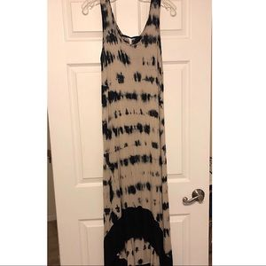 Kensie High/Low Tie Dye Maxi Dress EUC